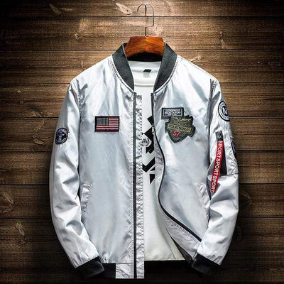 Gray / 4XL Elevation Patch Bomber Baron Supply Co