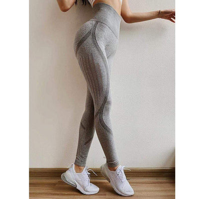 Gray / L Seamless Workout Leggings Baron Supply Co