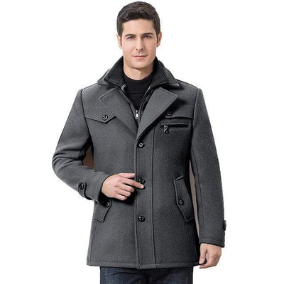 Gray / M The Manchester Coat that Dealio