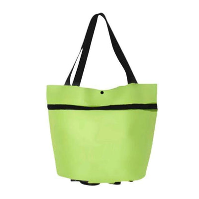 green Transforming Tote Bag to Trolley Baron Supply Co