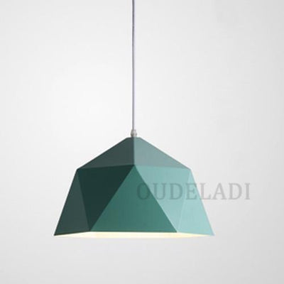 Green / Without bulb / Dia 25cm Nordic Wrought Iron Ceiling Light imxgine