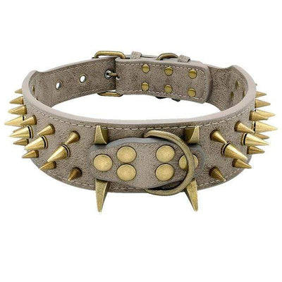 Khaki / S G-Doggy™ Spiked Collar Baron Supply Co