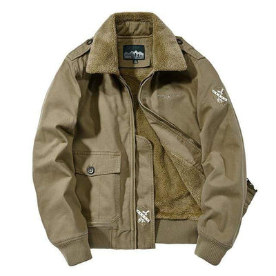 Khaki / XXL Citizen Renegade Fleece Lined Pilot Jacket Baron Supply Co
