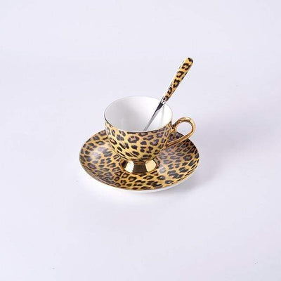 Kitchen 1 Coffee Cup / 200ml Luxury Leopard Ceramic Set Baron Supply Co
