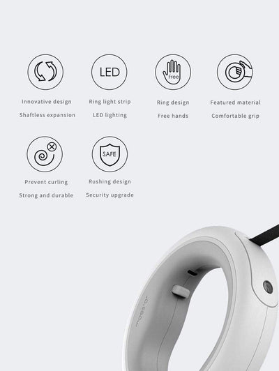 LED Rechargeable Retractable Luxury Dog Leash imxgine