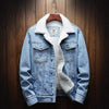 Light Blue / S Wool Lined Denim Jacket Baron Supply Co