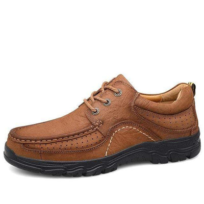 Light brown / 11.5 Genuine Leather Waterproof Comfort Pro Shoes Baron Supply Co