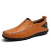 Light Brown / 6 Superior Comfort Genuine Leather Loafer Baron Supply Co