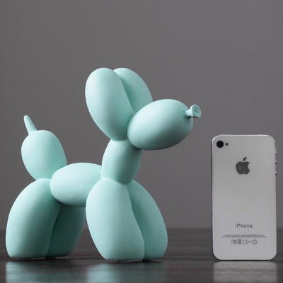 light green Balloon Dog Statue imxgine