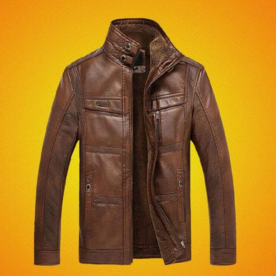 Men's Jackets Brown / XXXL Ryder Leather Jacket Baron Supply Co