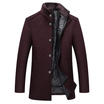 Men's Jackets Burgundy / XL Noah 2-in-1 Overcoat Baron Supply Co