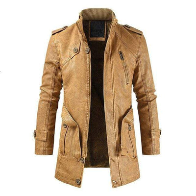 Men's Jackets Tan / 3XL The London Leather Jacket Baron Supply Co