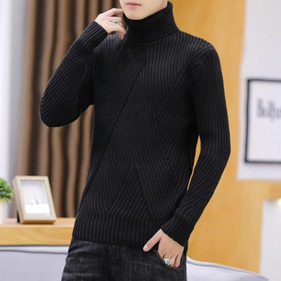 Men's Sweaters Black / M Leo Soft Knit Turtleneck Baron Supply Co