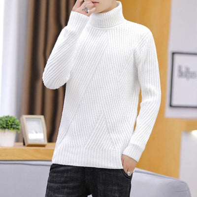 Men's Sweaters White / XXXL Leo Soft Knit Turtleneck Baron Supply Co