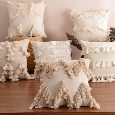 Moroccan Macrame Pillows Electric Solitude