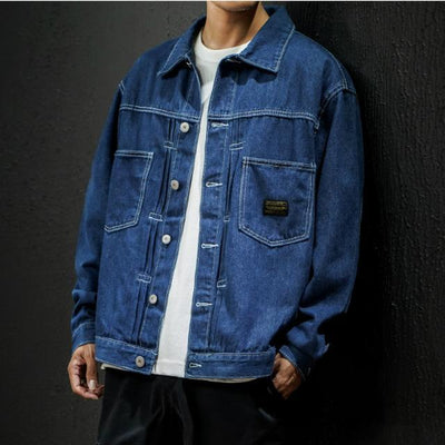 Navy blue / XS Tokyo Denim Jacket that Dealio