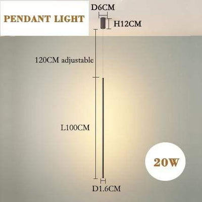 pendant  L100cm / Warm White (2700-3500K) / black body Javelin LED Wall Lamp Electric Solitude