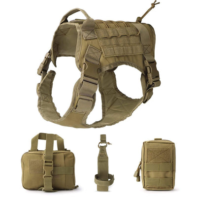 Pets Brown / L Tactical Dog Harness that Dealio