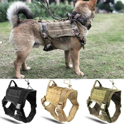 Pets Green / M Tactical Dog Harness that Dealio