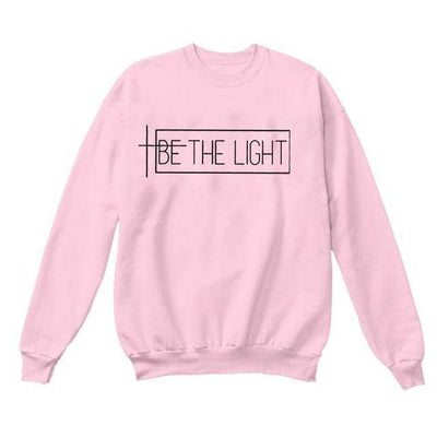 Pink-black txt / S Be The Light Sweatshirt Electric Solitude
