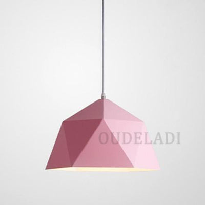 Pink / Without bulb / Dia 25cm Nordic Wrought Iron Ceiling Light imxgine