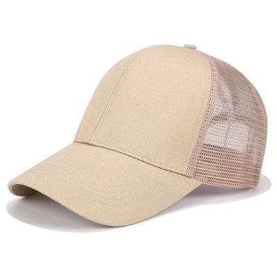 Plain Khaki Official Ponytail Cap™ that Dealio