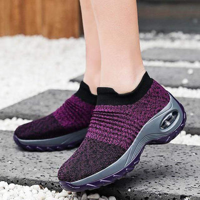 Purple / 7.5 Slip-Resistant Breathable Work Shoes Baron Supply Co