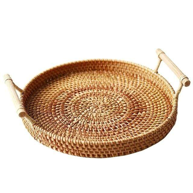 Rattan Serving or Storage Tray imxgine