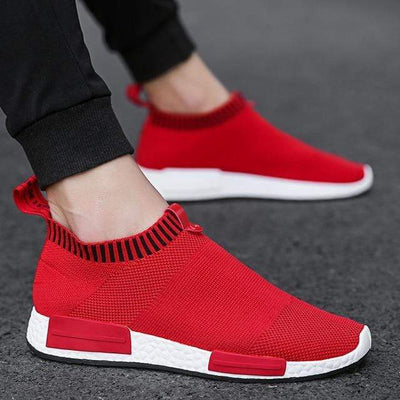 Red / 10 Breathable Mesh Sneakers Baron Supply Co