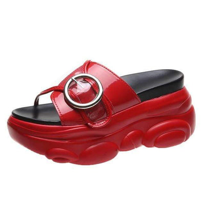 Red / 34 Chunky Platform Slide Electric Solitude