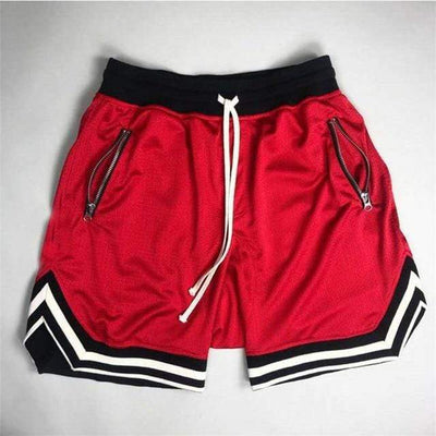 Red / S 80's Classic Gym Shorts Electric Solitude