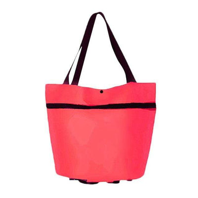 Red Transforming Tote Bag to Trolley Baron Supply Co