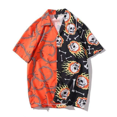 Red / XL Deuce Button Up Electric Solitude