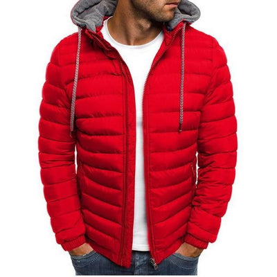 Red / XL Hooded Down Filled Windbreaker Baron Supply Co
