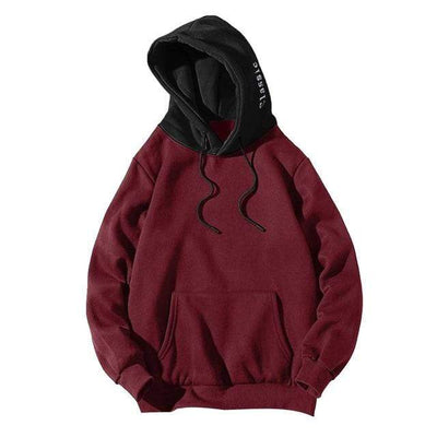 Red / XXL / United States Dual Tone Urban Hoodie Electric Solitude
