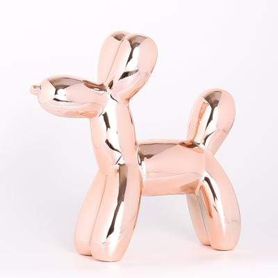 Rose gold Metallic Balloon Dog Statue imxgine