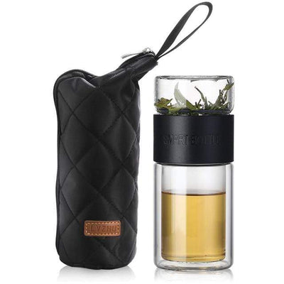 Russian Federation / Black 200ml Glass Portable Tea Infuser imxgine