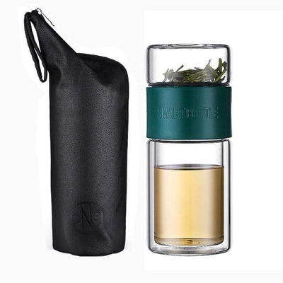 Russian Federation / green 200ml Glass Portable Tea Infuser imxgine