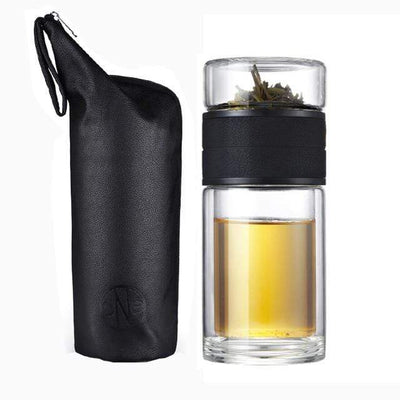 Russian Federation / Skin Texture 300ml Glass Portable Tea Infuser imxgine