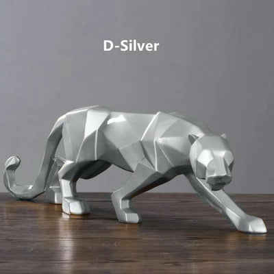 Silver / Big  19 inches Panther Pride Statue imxgine