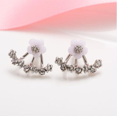 Silver Daisy Blossom Earring that Dealio