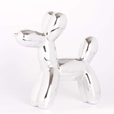 Silver Metallic Balloon Dog Statue imxgine