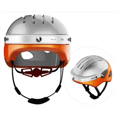 Sports Orange Safety Smart Helmet w/ HD WiFi Camera that Dealio