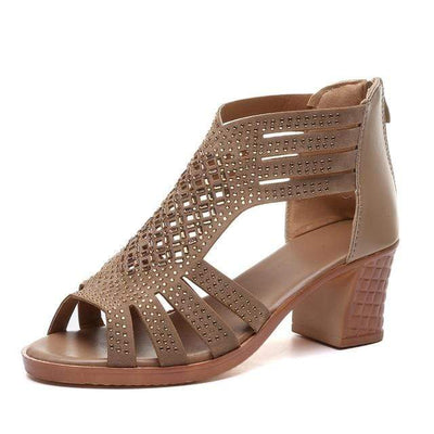 Studded Leather High Heel Sandals Baron Supply Co