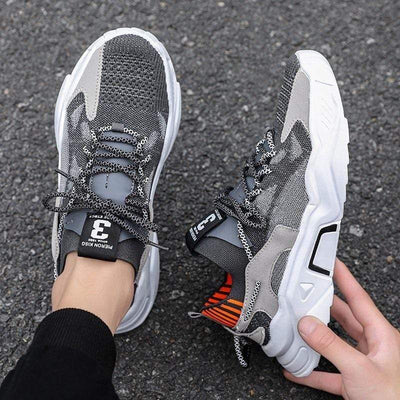 Summer Trend Style Men's Casual Shoes 2020 New Fashion Breathable Mesh Light Personality Sneakers Flying Weaving Tenis Masculino Electric Solitude
