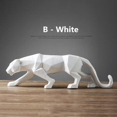 White / Big  19 inches Panther Pride Statue imxgine