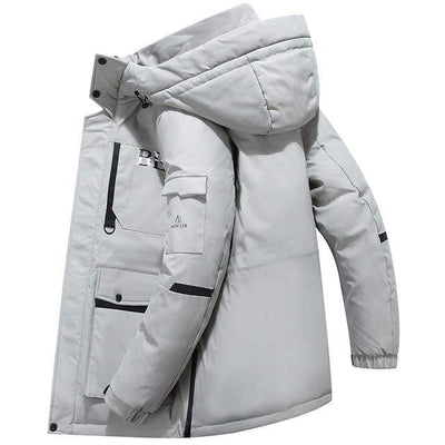 White / M Snowgoose Winter Down Jacket Baron Supply Co
