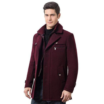 Wine red / M The Manchester Coat that Dealio