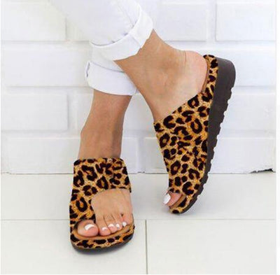 Women's Shoes Leopard / 34 TheraFoam Sandals Baron Supply Co
