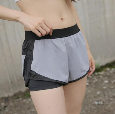 Women's Shorts Gray / S QuickFlex 2-in-1 Gym Shorts Baron Supply Co